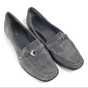 Croft & Barrow Gray Suede Loafer Flat 9
